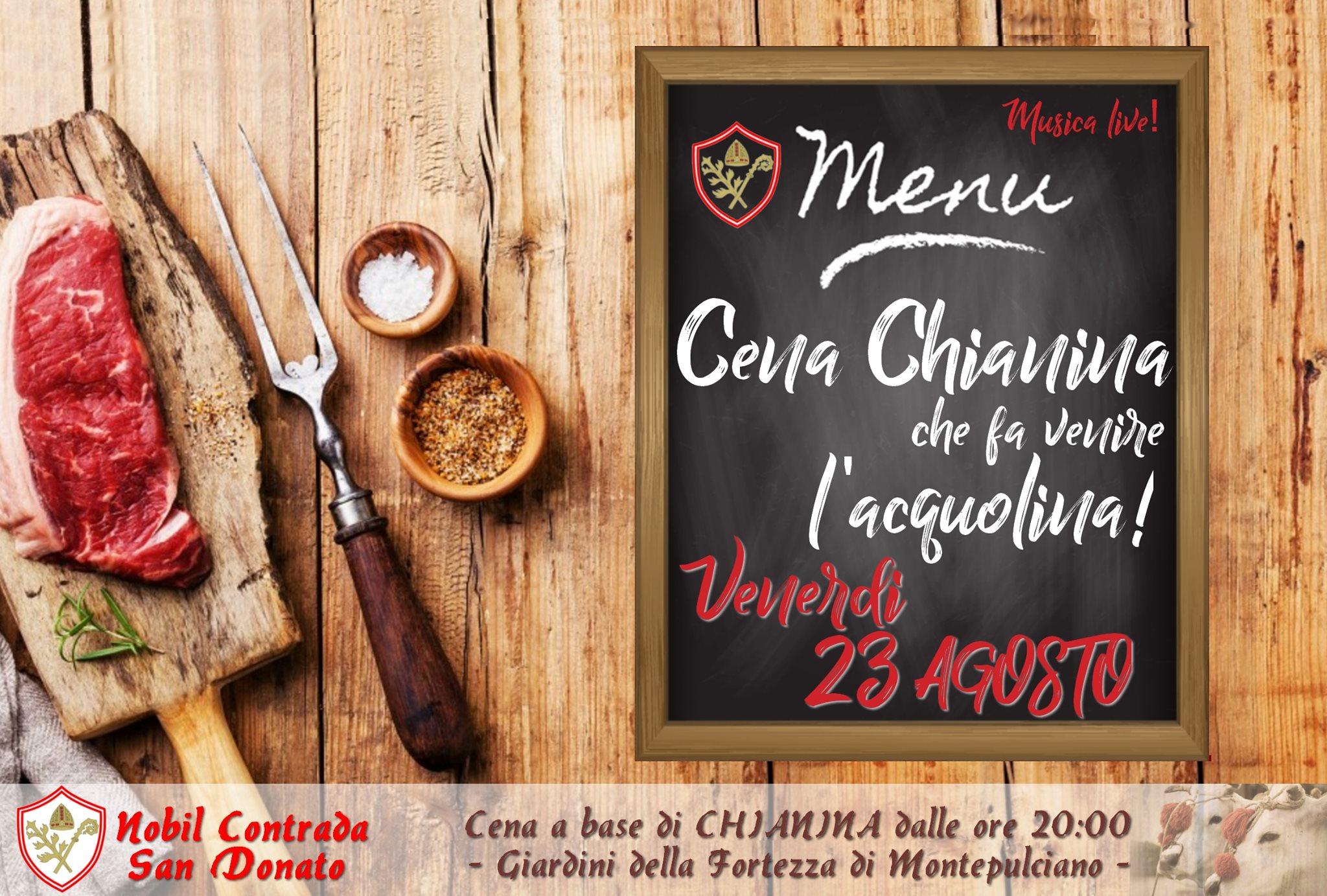 Cena Chianina e Musica Live in San Donato