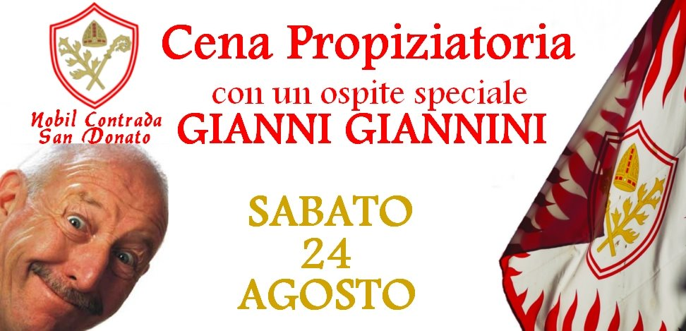 "Cena Propiziatoria e serata dal vivo con ""Gianni Giannini"""