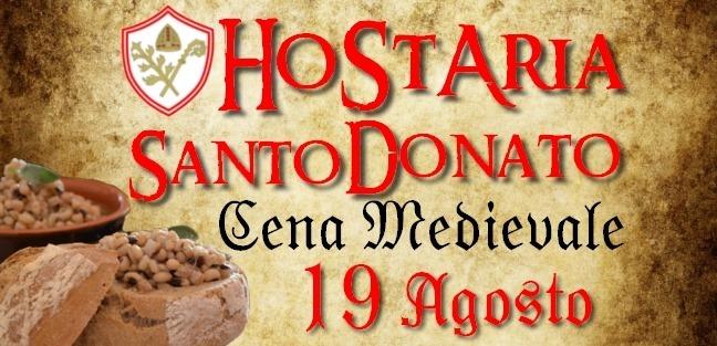 Cena Medievale ✦ Hostaria de lo Santo Donato! Lunedì 19 Agosto
